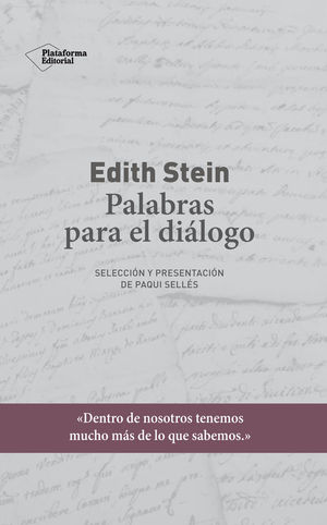 EDITH STEIN. PALABRAS PARA EL DIALOGO