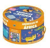 LOS ANIMALES DE AFRICA. LIBRO + PUZZLE GIGANTE 30 PIEZAS