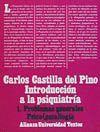 INTRODUCCION A LA PSIQUIATRIA 1 PROBLEMAS GENERALES PSICOPATOLOGIA