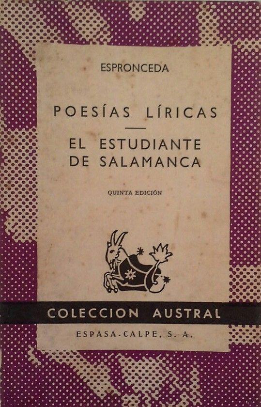 POESÍAS LÍRICAS ; EL ESTUDIANTE DE SALAMANCA