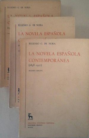LA NOVELA ESPAÑOLA CONTEMPORÁNEA - TRES TOMOS
