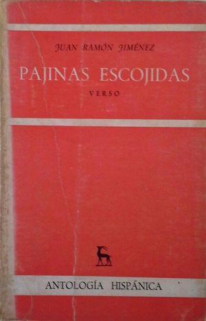 PAGINAS ESCOJIDAS DE JUAN RAMON JIMENEZ - VERSO