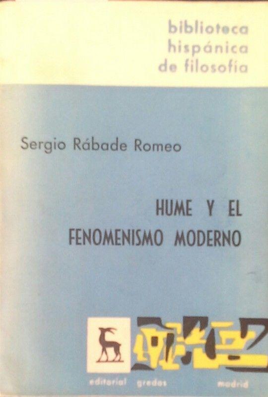 HUME Y EL FENOMENISMO MODERNO