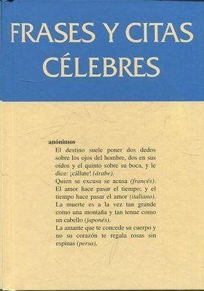 FRASES Y CITAS CÉLEBRES