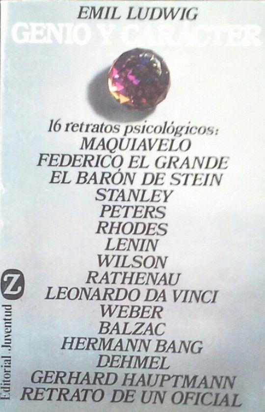 GENIO Y CARÁCTER