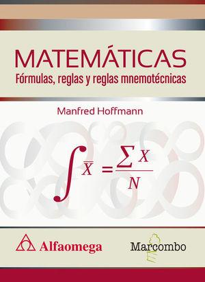 MATEMÁTICAS FORMULAS, REGLAS Y REGLAS MNEMOTECNICAS