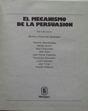 EL MECANISMO DE LA PERSUASION