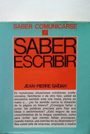 SABER ESCRIBIR
