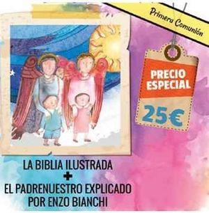 LOTE COMUNION 2 (BIBLIA ILUSTRADA + PADRENUESTRO EXPLICADO)