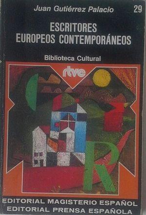 ESCRITORES EUROPEOS CONTEMPORÁNEOS