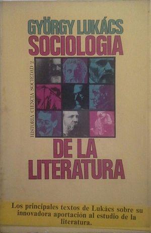 SOCIOLOGÍA DE LA LITERATURA