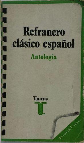 REFRANERO CLÁSICO ESPAÑOL