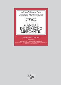 MANUAL DE DERECHO MERCANTIL I