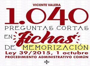 1040 PREGUNTAS CORTAS EN FICHAS DE MEMORIZACIÓN LPAC