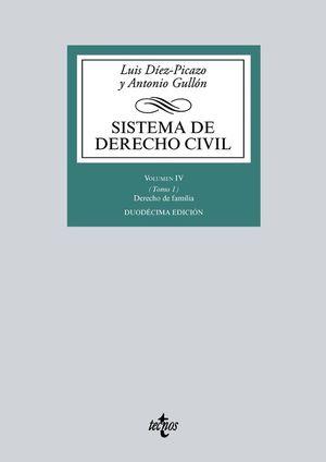 SISTEMA DE DERECHO CIVIL VOL. IV / TOMO 1: DERECHO DE FAMILIA