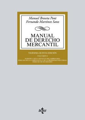 MANUAL DE DERECHO MERCANTIL.VOL.I