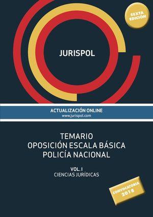 JURISPOL. TEMARIO OPOSICIÓN ESCALA BÁSICA POLICÍA NACIONAL