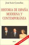 HISTORIA DE ESPAÑA MODERNA Y CONTEMPORANEA