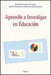 APRENDO A INVESTIGAR EN EDUCACIÓN