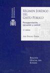 REGIMEN JURIDICO DEL GASTO PUBLICO. PRESUPUESTACION,EJECUCION Y CONTRO