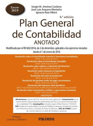 PLAN GENERAL DE CONTABILIDAD ANOTADO 2019