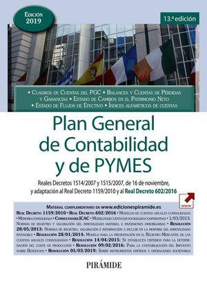 PLAN GENERAL DE CONTABILIDAD Y DE PYMES 2019