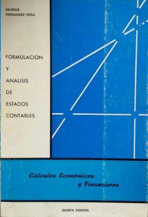 FORMULACIÓN Y ANÁLISIS DE ESTADOS CONTABLES