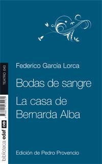 BODAS DE SANGRE. LA CASA DE BERNARDA ALBA