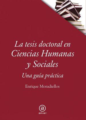 LA TESIS DOCTORAL EN CIENCIAS HUMANAS Y SOCIALES