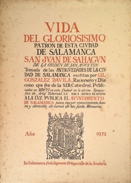 VIDA DEL GLORIOSO PATRONO DE SALAMANCA