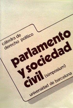 PARLAMENTO Y SOCIEDAD CIVIL (SIMPOSIUM)