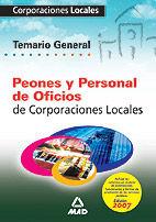 PERSONAL DE OFICIOS DE CORPORACIONES LOCALES. TEMARIO GENERAL