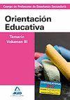 CUERPO PROFESORES ENSEÑANZA SECUNDARIA. ORIENTACION EDUCATIVA VOL III