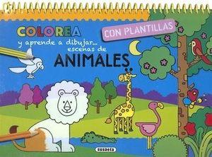 COLOREA Y APRENDE A DIBUJAR ESCENAS DE...ANIMALES