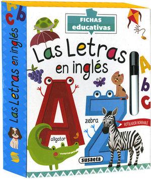 LA LETRAS EN INGLÉS. FICHAS EDUCATIVAS