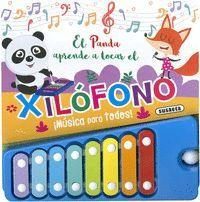 EL PANDA APRENDE A TOCAR EL XILOFONO