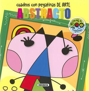ARTE ABSTRACTO. CUADROS CON PEGATINAS DE ARTE