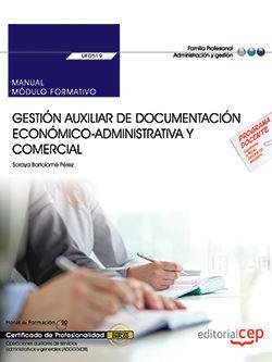 MANUAL. GESTION AUXILIAR DE DOCUMENTACION ECONOMICO-ADMINISTRATIV