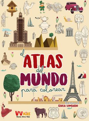 ATLAS DEL MUNDO PARA COLOREAR