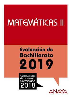 MATEMÁTICAS II. EVALUACIÓN DE BACHILLERATO 2019