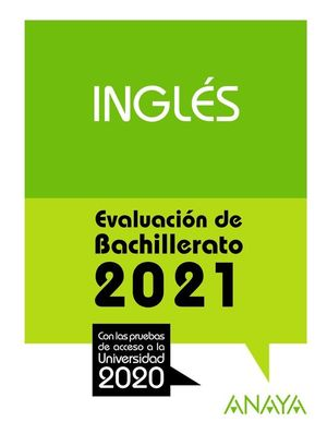 2021 INGLES EVALUACION DE BACHILLERATO