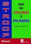 STROOP, TEST DE COLORES Y PALABRAS