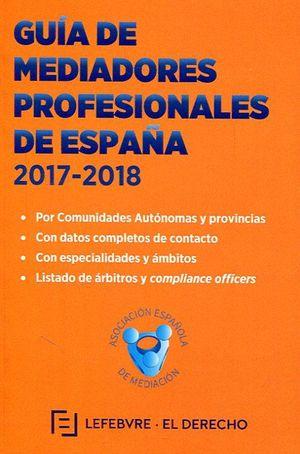 GUIA DE MEDIADORES PROFESIONALES EN ESPAÑA 2017-2018