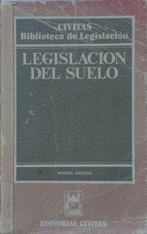 LEGISLACIÓN DEL SUELO