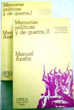 MEMORIAS POLITICAS Y DE GUERRA,II