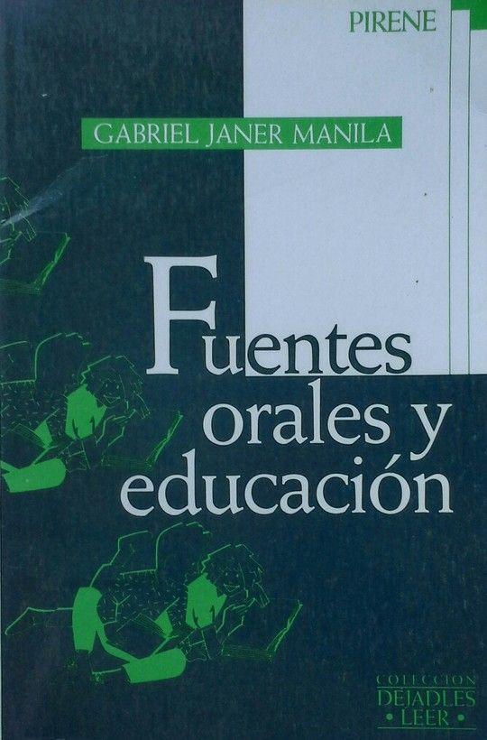 FUENTES ORALES Y EDUCACIÓN
