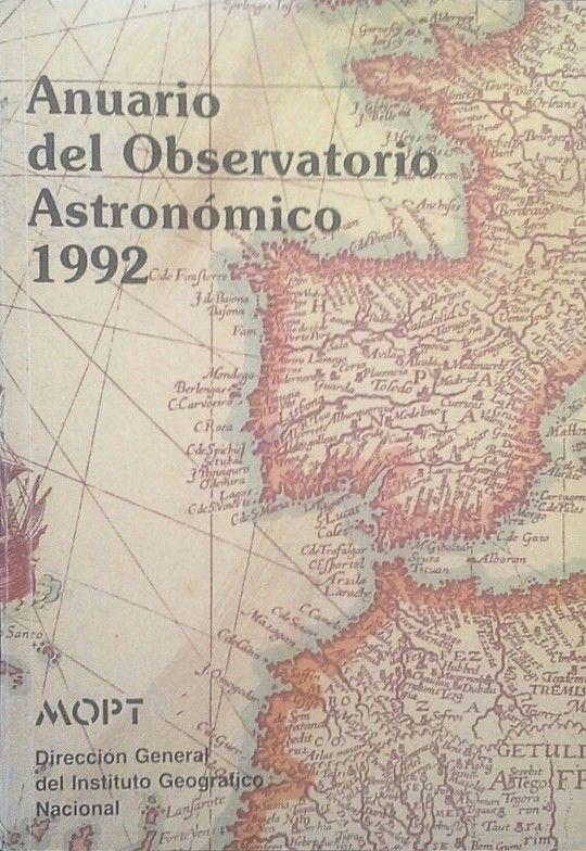 ANUARIO DEL OBSERVATORIO ASTRONÓMICO DE MADRID PARA 1992