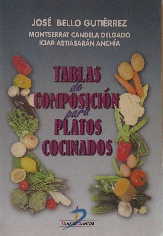 TABLAS DE COMPOSICIÓN PARA PLATOS COCINADOS