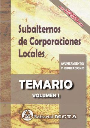 SUBALTERNOS DE CORPORACIONES LOCALES. TEMARIO VOLUMEN I.