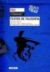 TEXTOS DE FILOSOFÍA. UNIVERSIDADES DE MADRID